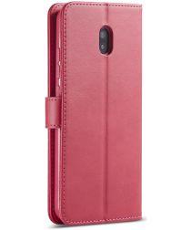 Xiaomi Redmi 8A Portemonnee Stand Bookcase Hoesje Roze