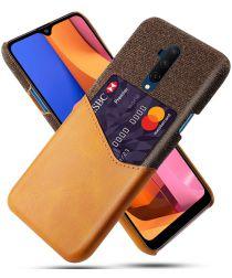 OnePlus 7T Pro Kunststoffen Back Cover met Kaartsleuf Bruin