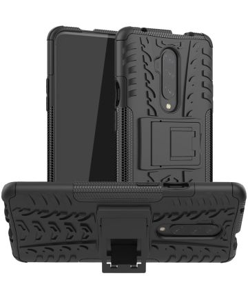 OnePlus 7T Pro Robuust Hybride Hoesje Zwart Hoesjes