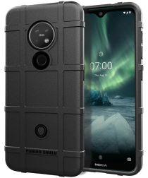 Nokia 7.2 Anti-Shock Hybride Hoesje Zwart