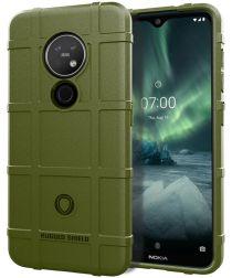 Nokia 7.2 Anti-Shock Hybride Hoesje Groen