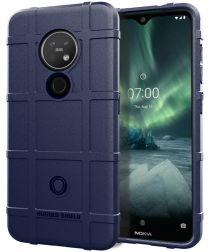 Nokia 7.2 Anti-Shock Hybride Hoesje Blauw