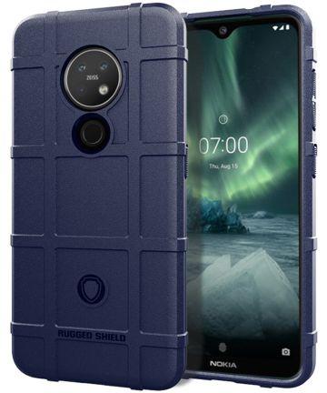 Nokia 7.2 Anti-Shock Hybride Hoesje Blauw Hoesjes
