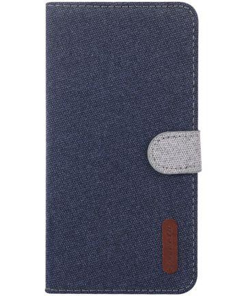 Nokia 6.2 / 7.2 Portemonnee Hoesje met Standaard Blauw Hoesjes