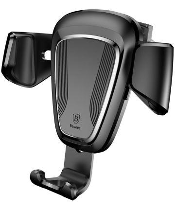 Baseus Gravity Universele Smartphone Ventilatierooster Houder Zwart