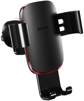 Baseus Metal Age Gravity Ventilatierooster Telefoonhouder Zwart