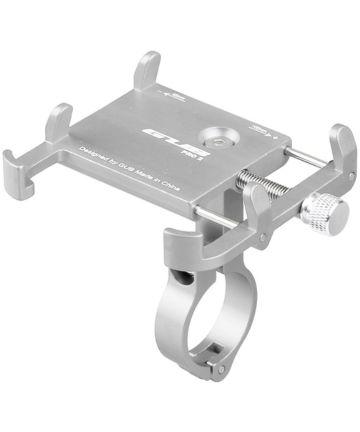 GUB Pro 2 Universele Verstelbare Telefoonhouder voor Fietsen Zilver