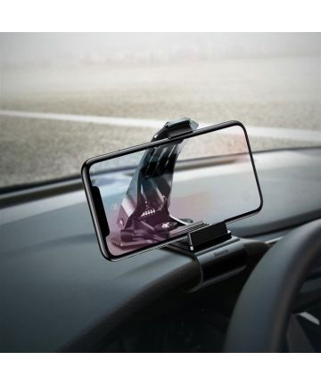 Baseus Direct-view Smartphone Houder Auto Dashboard Zwart