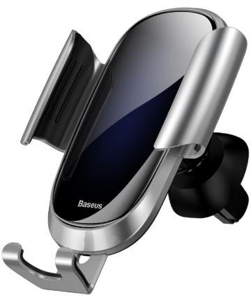 Baseus Future Gravity Verstelbare Ventilatie Telefoonhouder Zilver Houders