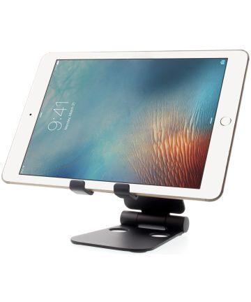 Universele Verstelbare Aluminium Houder Smartphone en Tablet Zwart