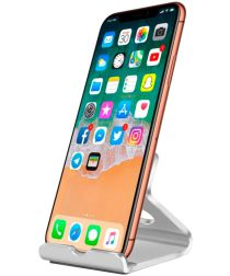 Universele Bureau Telefoon en Tablet Houder Zilver