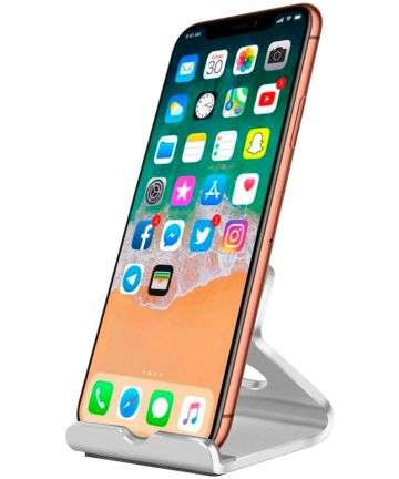 Universele Bureau Telefoon en Tablet Houder Zilver Houders