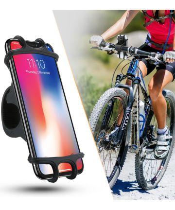 Universele en Schokbestendige Telefoonhouder Fiets/Mountainbike Zwart Houders