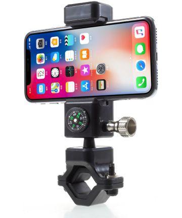 Universele Telefoonhouder Fiets met Kompas Voor Smartphones Zwart