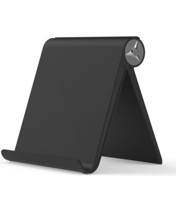 Universele Verstelbare Bureau Standaard voor Smartphones Zwart