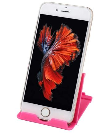 Universele Verstelbare Bureau Houder voor Telefoons en Tablets Roze Houders