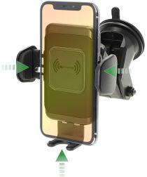 4Smarts VoltBeam Touch Authouder Telefoon met Draadloos Opladen Zwart