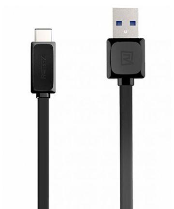 Remax Platte USB C Kabel 1 Meter Zwart Kabels