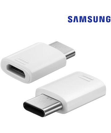 Samsung USB Type C naar Micro USB Adapter Wit
