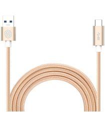 Nillkin Elite USB-C kabel 1 meter sterk nylon goud