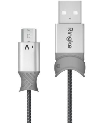 Ringke Smart Fish Micro-USB Kabel Gevlochten 1.2 Meter Grijs