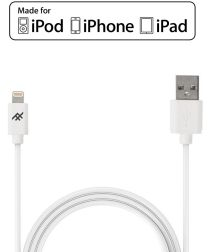iFrogz Lightning naar USB Kabel Wit 1m