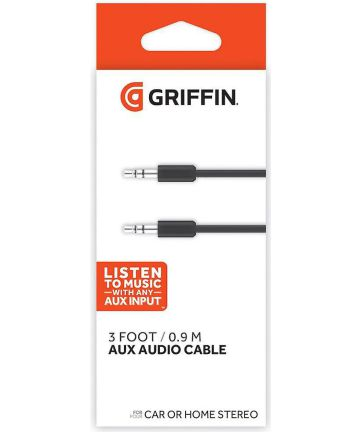 Griffin 3.5mm Audiokabel 0.9 Meter Zwart
