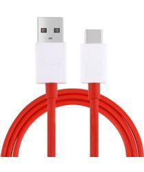 Orginele OnePlus Dash USB-C kabel 1m Rood/Wit