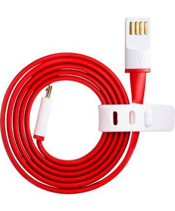 Orginele OnePlus Micro-USB kabel 1m Rood/Wit Kabels