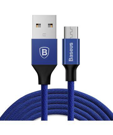 Baseus Gevlochten 1.5m Micro-USB Kabel Blauw