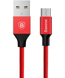 Baseus Gevlochten 1.5m Micro-USB Kabel Rood