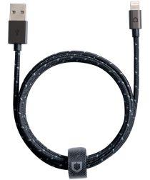 RhinoShield Gevlochten Lightning Kabel 1.2 Meter Blauw