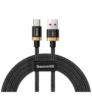 Baseus Gevlochten USB-C Flash Charge Kabel 2 Meter Goud