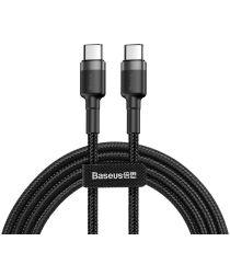 Baseus Cafule USB-C Fast Charge Gevlochten Kabel 1m Zwart/Grijs