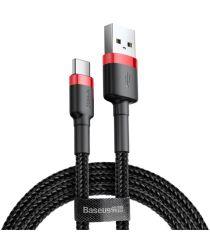 Baseus Gewoven USB-C Fast Charge Kabel 1 Meter Zwart Rood