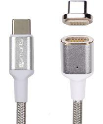 4smarts Magnetische USB-C naar USB-C Kabel 1.8m Zilver