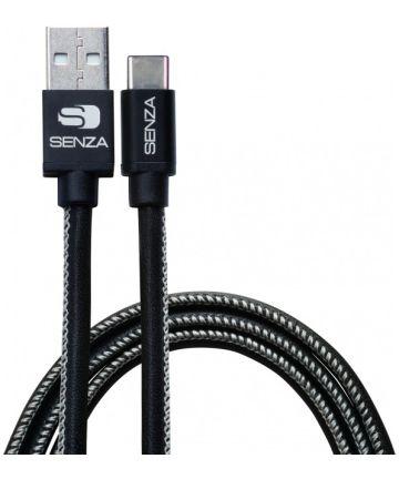 Senza Premium Leren USB-C Kabel 1.5 Meter Zwart Kabels