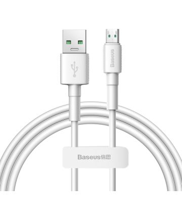 Baseus 20W Quick Charge Micro-USB Kabel 1m Wit Kabels