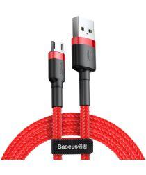 Baseus Cafule Series Fast Charge Micro-USB Geweven Kabel 1m Rood/Zwart