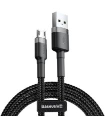 Baseus Cafule Series Micro-USB Geweven Kabel 2m Zwart/Grijs