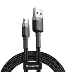 Baseus Cafule Series Fast Charge Micro-USB Geweven Kabel 1m Zwart