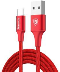 Baseus Rapid Series Fast Charge USB-C Lichtgevende Kabel 2m Rood