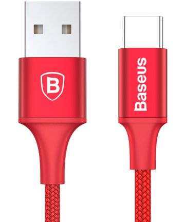 Baseus Rapid Series Fast Charge USB-C Lichtgevende Kabel 1m Rood