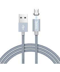 Hoco Magnetic Series Micro-USB Kabel 1m Metal Gray