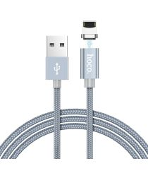 Hoco Magnetic Series Apple Lightning Kabel 1m Metal Gray