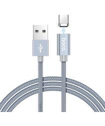 Hoco Magnetic Series USB-C Kabel 1m Metal Gray