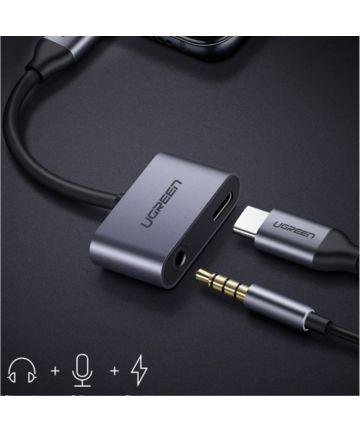 Stijlvolle Universele USB-C naar USB-C + Audio Jack Adapter Kabels