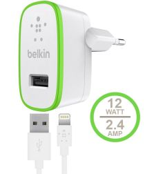 Belkin BOOST↑UP 2.4A Apple Lightning iPad / iPhone Oplader 1,2M Wit