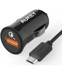 Aukey CC-T5 Quick Charge 2.0 Autolader 2.4A Zwart