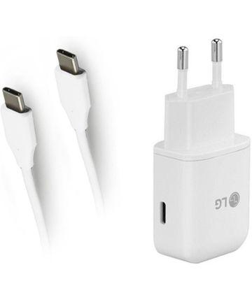 Originele LG Oplader met USB-C Kabel (0,9M) Wit Opladers